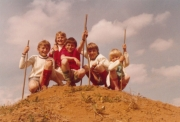 From left: My brother Hans-Peter, Claudia, my sister, a friend, me, my little sister Ingrid