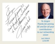 Personal Signature for me in one of Jack´s famous management books