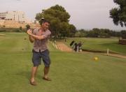 I learnt golf...
